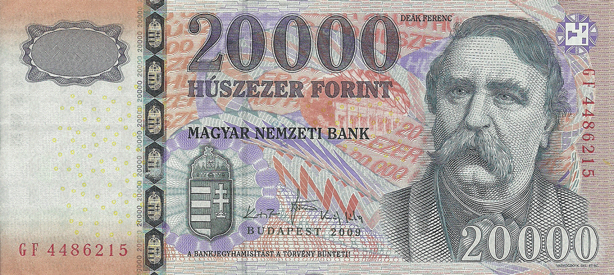 Венгерская купюра в 20 тыс. Ft