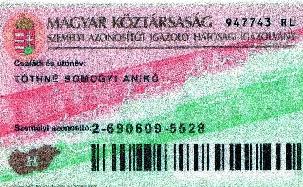 Адресная карта жителя Венгрии (lakcímkártya)